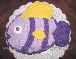 purple fish child birthday cake recipe
