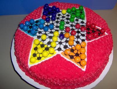 Chinese Checker Cake