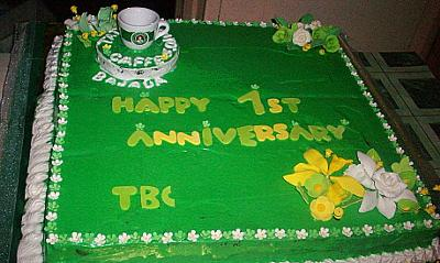 Coffee Shop Anniversary Cake