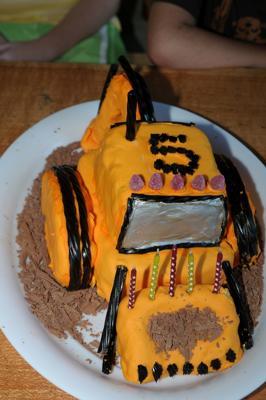 Construction Digger Cake