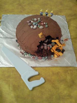 Wondrous Construction Site Birthday Cake Funny Birthday Cards Online Alyptdamsfinfo