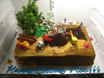 Awe Inspiring Construction Site Cake Funny Birthday Cards Online Alyptdamsfinfo