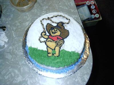 Cowboy Pooh Bear Cake