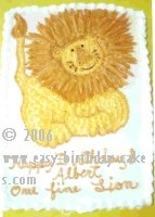 creative birthday cakes - lion