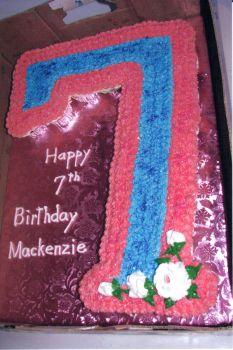 Cupcake Number 7 Birthday Cake