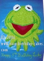 decorating birthday cakes - Kermit