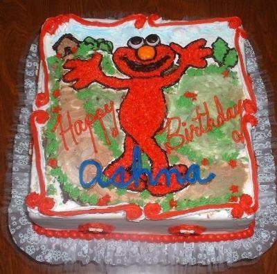 Elmo Goes for a Walk Birthday Cake