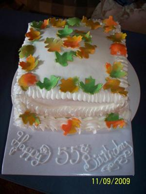 Fall Birthday Cake