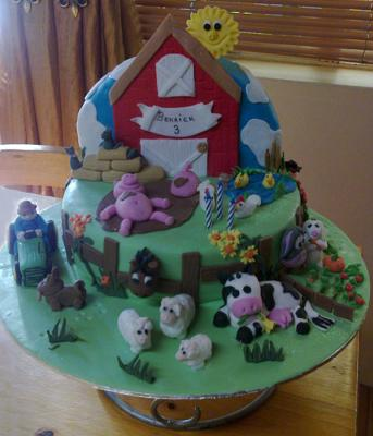 Miraculous Farm Cake Personalised Birthday Cards Veneteletsinfo