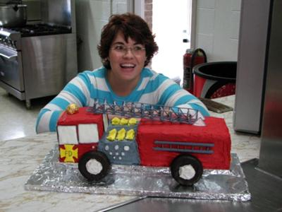 Fire Truck Birthday Cake for Son's 3rd Birthday