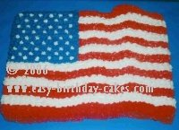 flag cake picture