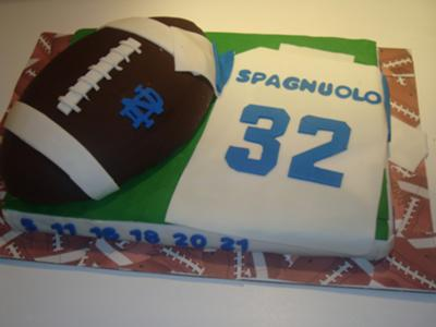 Football and Jersey Cake