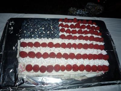 Fourth of July Flag Cake - Star Spangled and Yummy