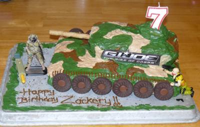 Zackery's GI Joe Cake