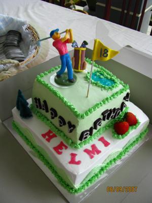 Cool Golf Birthday Cake Birthday Cards Printable Opercafe Filternl