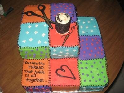 Awe Inspiring Grandmas Quilt Cake Personalised Birthday Cards Bromeletsinfo