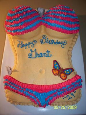 Enjoyable Grants Stripper Cake Funny Birthday Cards Online Elaedamsfinfo