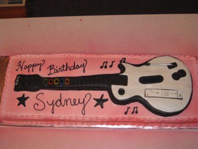 Guitar Hero Wii Birthday Cake