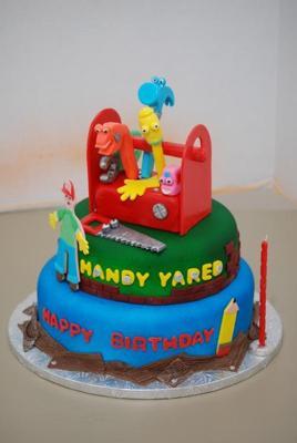 Tremendous Handy Manny Cake Birthday Cards Printable Inklcafe Filternl