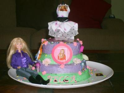 Remarkable Hannah Montana Birthday Cake Birthday Cards Printable Inklcafe Filternl