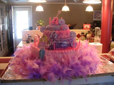 Stupendous Hannah Montana Cake Birthday Cards Printable Inklcafe Filternl