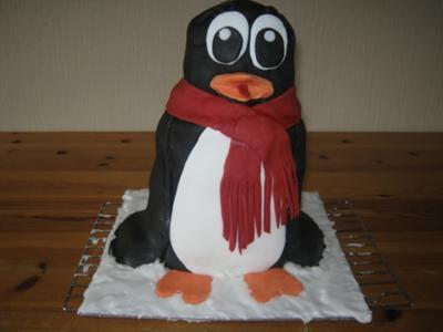 Happy Feet Birthday Cake