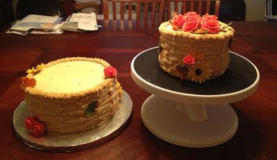 Harvest Cake - Prior to Assembly