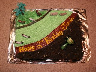 John Deere on the Farm Cake