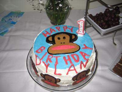 Julius (Paul Frank) Monkey 1st Birthday Cake