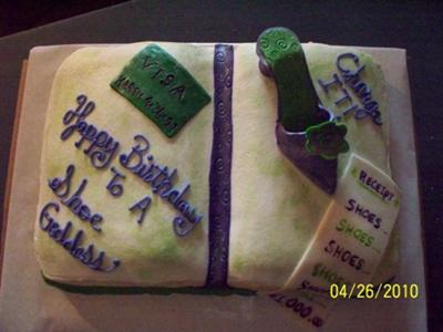 Book and Shoe Cake