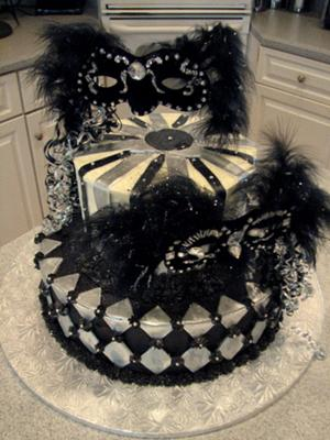Excellent Masquerade Ball Cake Funny Birthday Cards Online Alyptdamsfinfo