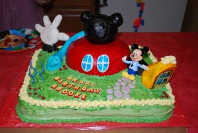 Peachy Mickey Mouse Clubhouse Cake Personalised Birthday Cards Veneteletsinfo