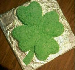 Mint Shamrock Cake