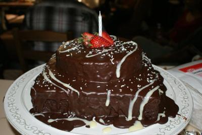 Mud Cake with Chocolate Icing