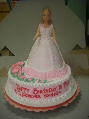 Terrific My Friends Barbie Birthday Cake Funny Birthday Cards Online Benoljebrpdamsfinfo