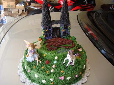 Dragon, Fairy, Unicorn Cake