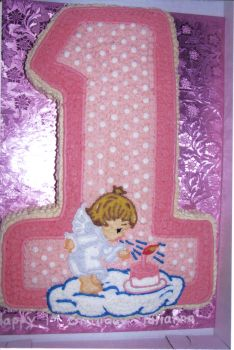 Number One First Birthday Cake Cake