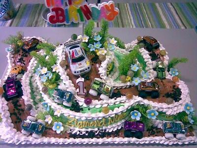 Off the Road Car Cake