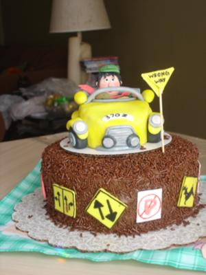 On The Road Cake