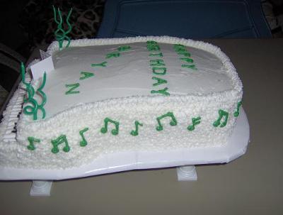 Bryan's Piano Cake