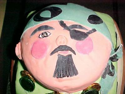 Captain Hook Larry Pirate Cake
