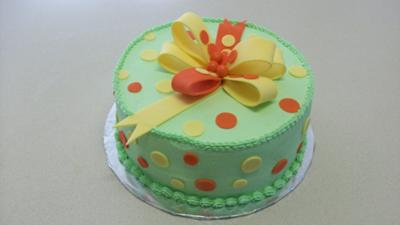 Polka Dots Baby Shower Cake