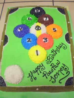 Astonishing Pool Table Cake For A Birthday Personalised Birthday Cards Akebfashionlily Jamesorg