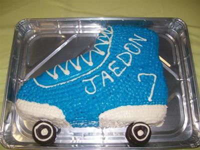Roller Skate Party Cake