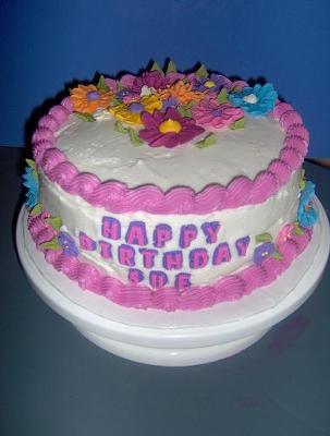 Round Flower Cake