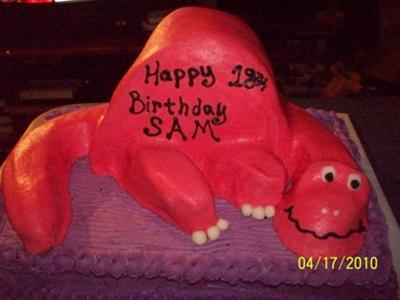 Pink Dinosaur Cake
