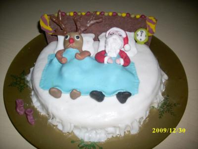 Santa's and Rudolph's Cake for Christmas