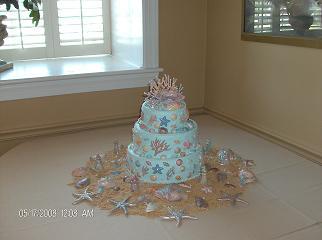 1st Sea Shell Wedding Cake