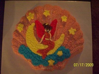 Seashell Mermaid Cake