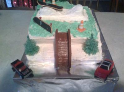 Skate Park Cake